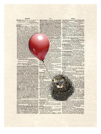 Hedgehog Aviator-Matt Dinniman-Art Print
