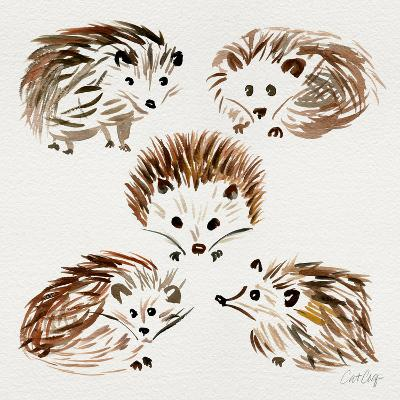 Hedgehogs-Cat Coquillette-Giclee Print