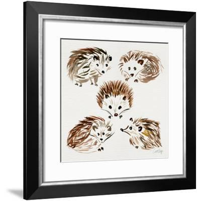 Hedgehogs-Cat Coquillette-Framed Giclee Print