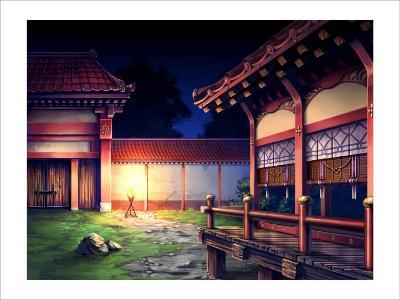 Heian Era Town of Japan-Kyo Nakayama-Giclee Print