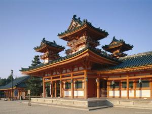 Heian Shrine (Heian-Jingu), Kyoto, Honshu, Japan
