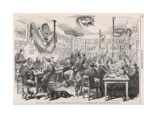 Heidelberg University Students 1870--Giclee Print