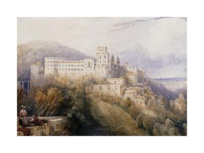 Heidelburg, The Palace of the Electors of the Palatinate-David Roberts-Giclee Print