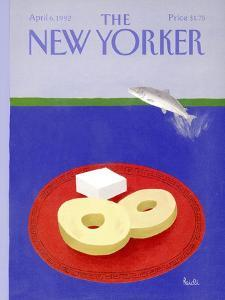 The New Yorker Cover - April 6, 1992 by Heidi Goennel