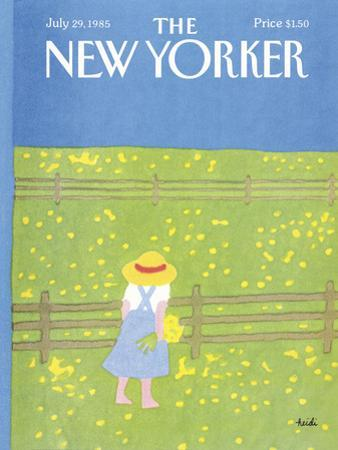 The New Yorker Cover - July 29, 1985 by Heidi Goennel