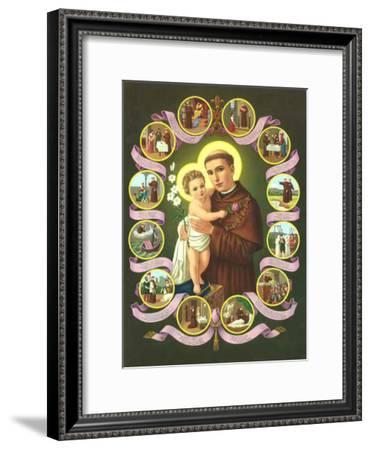 Heilige Antonius von Padua--Framed Art Print