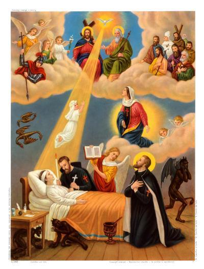 Heilige Camillus von Lelis--Art Print