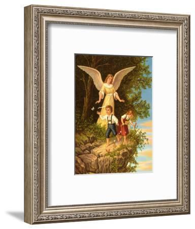 Heilige Schutzengel--Framed Art Print