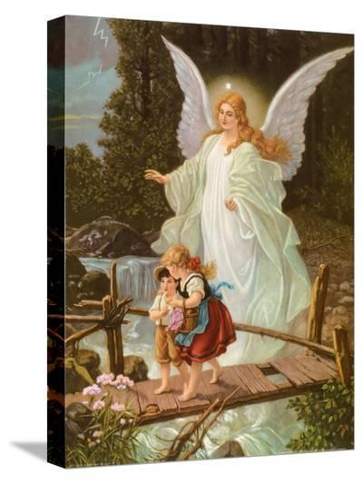 Heilige Schutzengel--Stretched Canvas Print