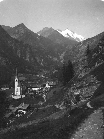 Heiligenblut and Grossglockner, Austria, C1900s-Wurthle & Sons-Photographic Print