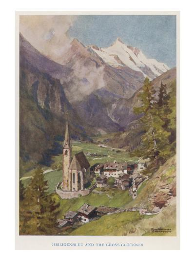 Heiligenblut (Holy Blood) and the Gross Glockner Church--Giclee Print
