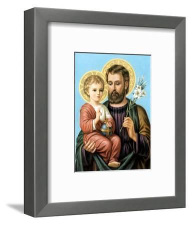 Heiliger Joseph--Framed Art Print