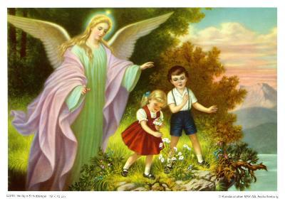 Heiliger Schutzengel-Marsani-Art Print