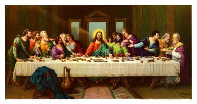 Heiliges Abendmahl-Zabateri-Art Print