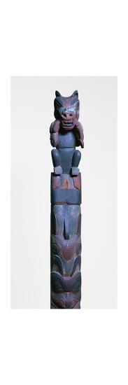 Heiltsuk nation totem post. Artist: Unknown-Unknown-Giclee Print