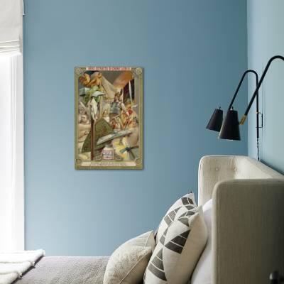 Heimdallr Blowing The Gjallar Horn To Summon The Gods Of Valhalla To Combat Giclee Print Art Com