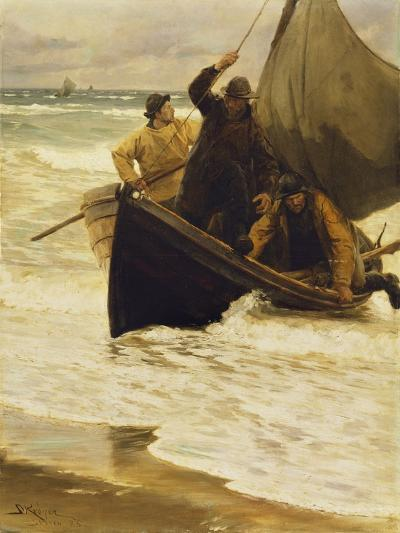 Heimkehr Der Fischer. (Skagen 1885)-Peder Severin Kr?yer-Giclee Print