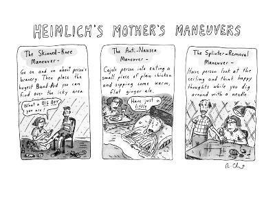 HEIMLICH'S MOTHER'S MANEUVERS - New Yorker Cartoon-Roz Chast-Premium Giclee Print