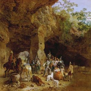 Raeuberbande in Den Abruzzen (Gefangennahme Italienischer Briganten), 1830/32 by Heinrich Burkel