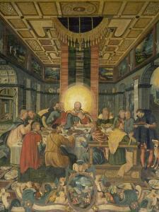 Das Letzte Abendmahl, Mitteltafel Vom Altar Der Frauenkirche in Muehlberg/Elbe by Heinrich Göding the Elder