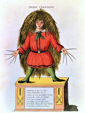 """""""Pierre L'Ebouriffe,"""" Illustration from the French Translation of Hoffmann's """"Struwwelpeter"""""""