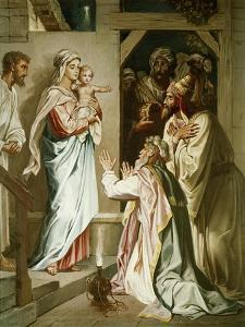 Adoration of the Magi by Heinrich Hofmann