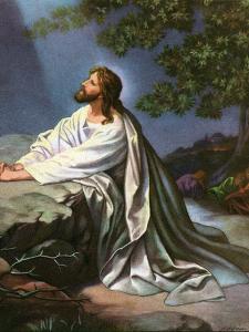 Christ in the Garden of Gethsemane by Heinrich Hofmann, 1930S by Heinrich Hofmann