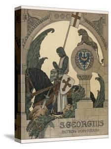 Saint George Praying after Slaying the Dragon by Heinrich Lefler