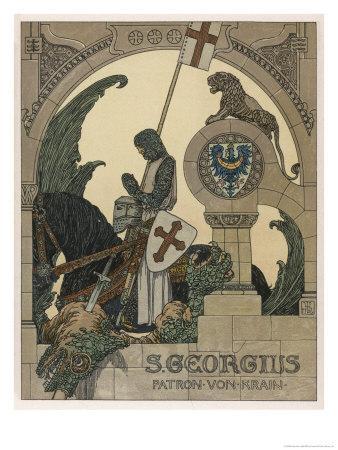 Saint George Praying after Slaying the Dragon