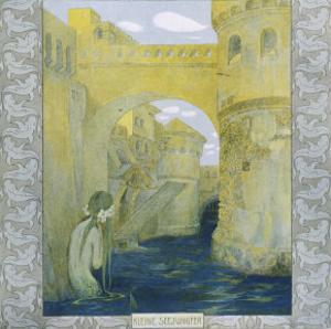 The Little Mermaid Watches the Castle Drawbridge Being Lowered by Heinrich Lefler