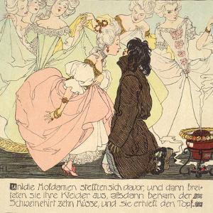 The Princess amnd the Swineherd, 1897 by Heinrich Lefler