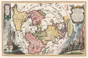 World Map with Magellan's Circumnavigation, 1702-1703 by Heinrich Scherer