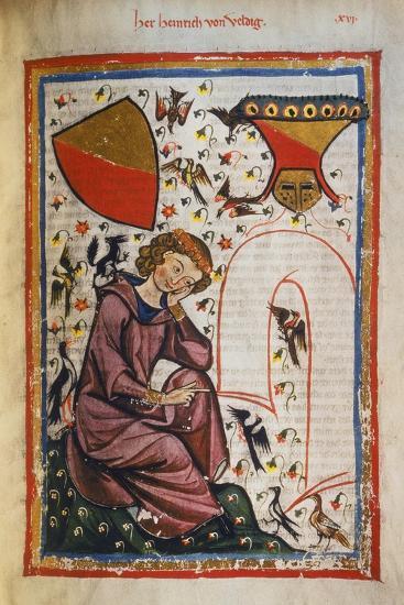 Heinrich Von Veldig-Heidelberger Lieder-Handschrift-Giclee Print