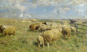 In Erwartung, um 1906 by Heinrich von Zügel