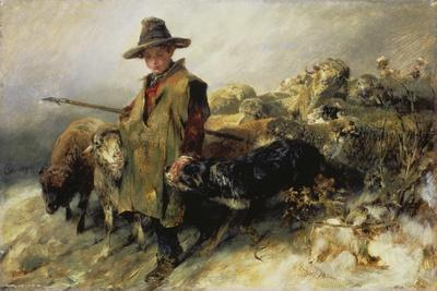 Young Shepherd in the Snow, C. 1872