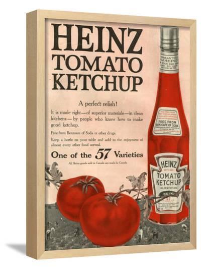 Heinz, Magazine Advertisement, USA, 1910--Framed Giclee Print