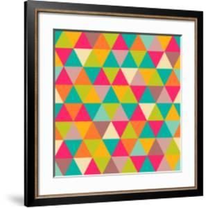 Abstract Geometric Triangle Seamless Pattern by Heizel