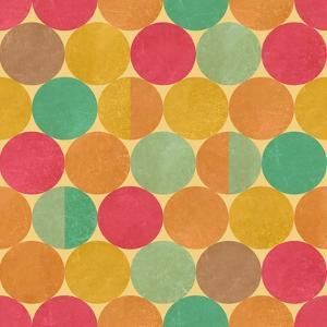 Retro Geometric Seamless Pattern With Seamless Texture by Heizel