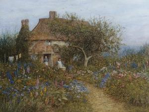 A Cottage Near Brook, Witley, Surrey Helen Allingham 1848-1926 by Helen Allingham