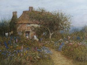 A Cottage Near Brook, Witley, Surrey Helen Allingham 1848-1926 by Helen Allingham