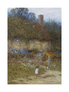 A Cottage Near Godalming, Surrey by Helen Allingham