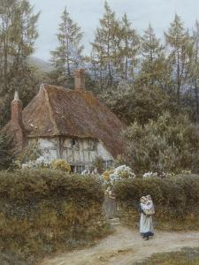 A Cottage Near Haslemere by Helen Allingham