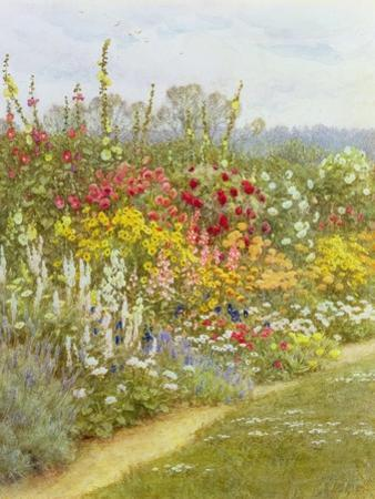 A Herbaceous Border by Helen Allingham