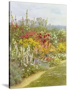 A Herbaceous Border by Helen Allingham
