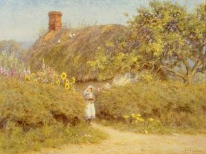A Surrey Cottage (W/C on Paper) by Helen Allingham