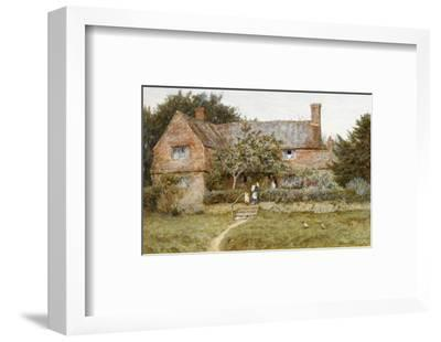 A Surrey Cottage with a Mother and Her Children