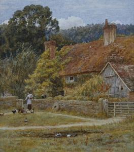 Netley Farm, Shere, Surrey by Helen Allingham