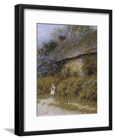 Old Cottage at Freshwater, Isle of Wight (Watercolour with Scratching Out)