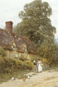 Old Post Office, Brook, Near Witley by Helen Allingham