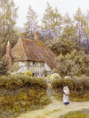 Pine Tree Cottage by Helen Allingham